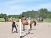 Fort av hästen och balansera på egen hand